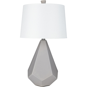 Enigma Medium Grey and White One-Light Table Lamp