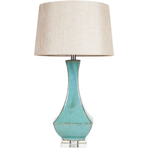 Luxurious Silver One Light Table Lamp