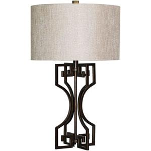 Lavish Bronze One Light 17-Inch Table Lamp