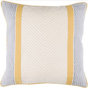 Leona Beige and Mocha 18-Inch Pillow with Down Fill