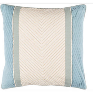 Leona Beige and Moss 20-Inch Pillow with Down Fill