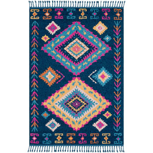 Love Blue Rectangle: 9 Ft. 3 In. x 12 Ft. 1 In. Rug