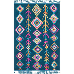 Love Blue Rectangle: 3 Ft. 11 In. x 5 Ft. 7 In. Rug