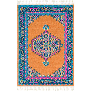 Love Orange Rectangle: 9 Ft. 3 In. x 12 Ft. 1 In. Rug