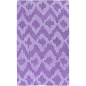 Leap Frog Purple Rectangular: 5 Ft x 7 Ft 6 In Rug