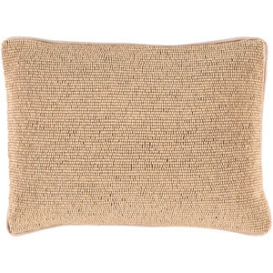 Lark Beige and Taupe 13 x 19-Inch Pillow with Down Fill