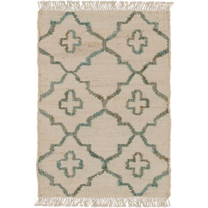 Laural Ivory and Moss Rectangular: 2 Ft x 3 Ft Rug