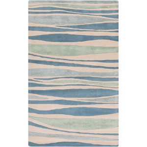 Lighthouse Parchment and Pacific Blue Rectangular: 5 Ft. x 8 Ft. Rug