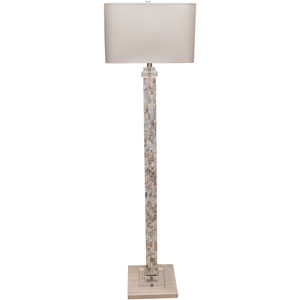 Lateen Mother of Pearl Finish Floor Lamp