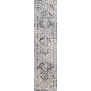 Liverpool Grey and Camel Runner: 2 Ft. 7 In. x 10 Ft. 3 In. Rug