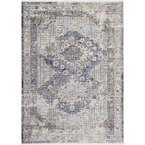 Liverpool Grey and Camel Rectangular: 3 Ft. 11 In. x 5 Ft. 7 In. Rug