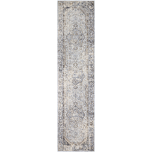Liverpool Silver Grey and Camel Runner: 2 Ft. 7 In. x 10 Ft. 3 In. Rug