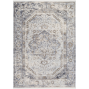 Liverpool Silver Grey and Camel Rectangular: 3 Ft. 11 In. x 5 Ft. 7 In. Rug