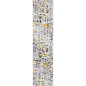 Liverpool Ivory and Grey Runner: 2 Ft. 7 In. x 10 Ft. 3 In. Rug