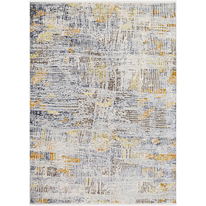 Liverpool Ivory and Grey Rectangular: 3 Ft. 11 In. x 5 Ft. 7 In. Rug