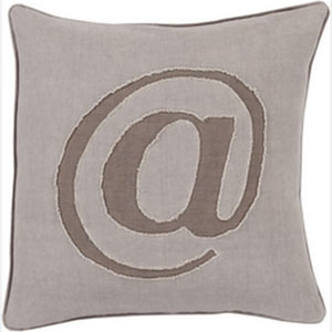Where its At Mauve 22-Inch Pillow with Poly Fill