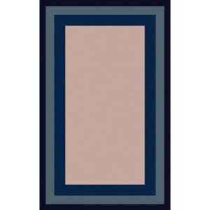 Mystique Gray and Navy Rectangular: 5 Ft x 8 Ft Rug