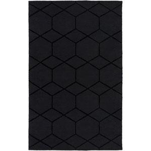 Mystique Black Rectangular: 5 Ft x 8 Ft Rug