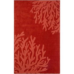 Mystique Dark Red Rectangular: 5 Ft. x 8 Ft. Rug
