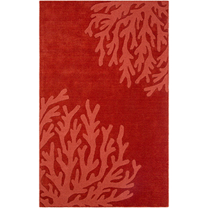 Mystique Dark Red Rectangular: 8 Ft. x 11 Ft. Rug
