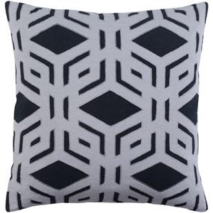 Millbrook Black and Medium Gray 18 x 18 In. Throw Pillow