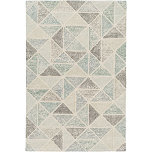 Melody Neutral and Gray Rectangular: 2 Ft x 3 Ft Rug