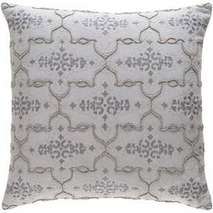 Mercury Light Gray and Medium Gray 18 x 18 In. Throw Pillow