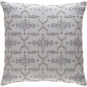 Mercury Light Gray and Medium Gray 22 x 22 In. Throw Pillow