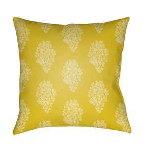 Moody Floral Lime and Butter 22 x 22-Inch Pillow