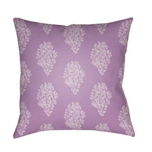 Moody Floral Bright Purple and Lavender 22 x 22-Inch Pillow