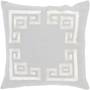 Milo Gray and Neutral 22-Inch Pillow Cover