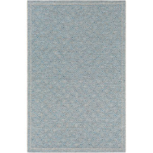 Marmaris Gray and Blue Rectangle: 2 Ft. x 3 Ft. Rug