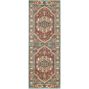 Masala market Multicolor Rectangular: 3 ft. 11 In. x 5 Ft. 7 In. Rug