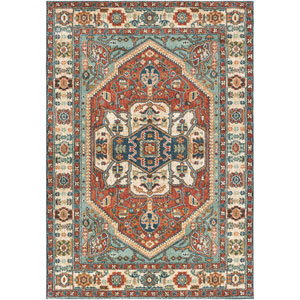 Masala market Multicolor Rectangular: 5 Ft. 3 In. x 7 Ft. 3 In. Rug