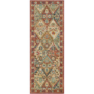 Masala market Multicolor Rectangular: 2 Ft. x 3 Ft Rug