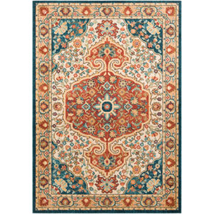 Masala Market Multicolor Rectangle: 5 Ft. 3 In. x 7 Ft. 3 In. Rug