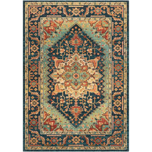 Masala Market Multicolor Rectangle: 5 Ft. 3 In. x 7 Ft. 3 In. Rug