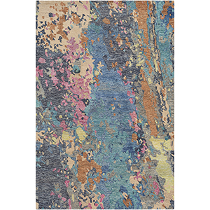 Modern Nouveau Multicolor Rectangular: 5 Ft. x 7 Ft. 6 In. Rug