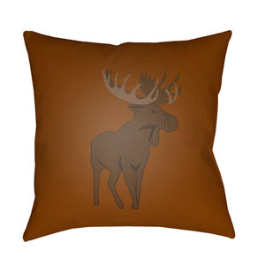 Moose Brown 18 x 18-Inch Throw Pillow