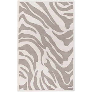 Mosaic White Zebra Print Rectangular: 5 Ft. x 8 Ft. Rug