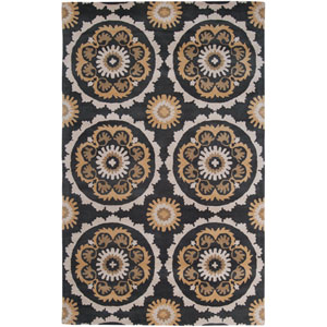 Mosaic Charcoal Rectangular: 3 ft. 3 in. x 5 ft. 3 in. Rug