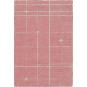 MOD POP Rose and Light Gray Rectangular: 2 Ft. x 3 Ft. Rug