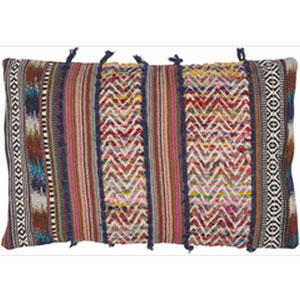 Marrakech Multicolor 14 x 22-Inch Pillow with Down Fill
