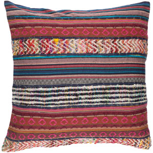 Marrakech Pink and Brown 20-Inch Pillow Cover