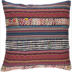 Marrakech Multicolor 20-Inch Pillow with Poly Fill