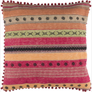 Marrakech Multicolor 20-Inch Pillow with Down Fill
