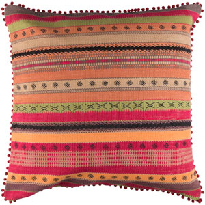 Marrakech Black and Red 30-Inch Pillow Cover