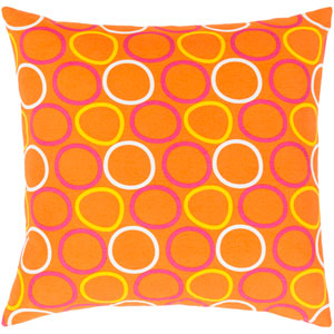 Miranda Yellow and Orange 20-Inch Pillow with Poly Fill
