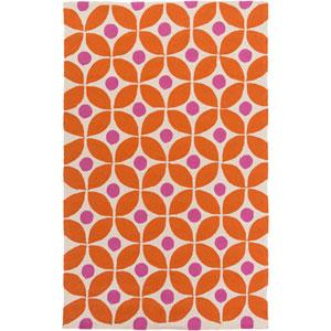 Miranda Orange Rectangular: 8 Ft x 10 Ft Rug by Clairebella