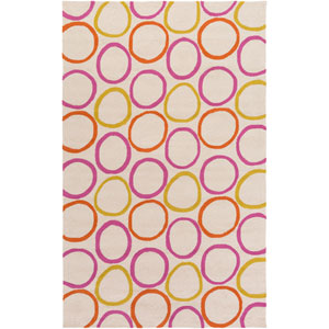 Miranda Pink and Orange Rectangular: 2 Ft 6 In x 8 Ft Rug by Clairebella